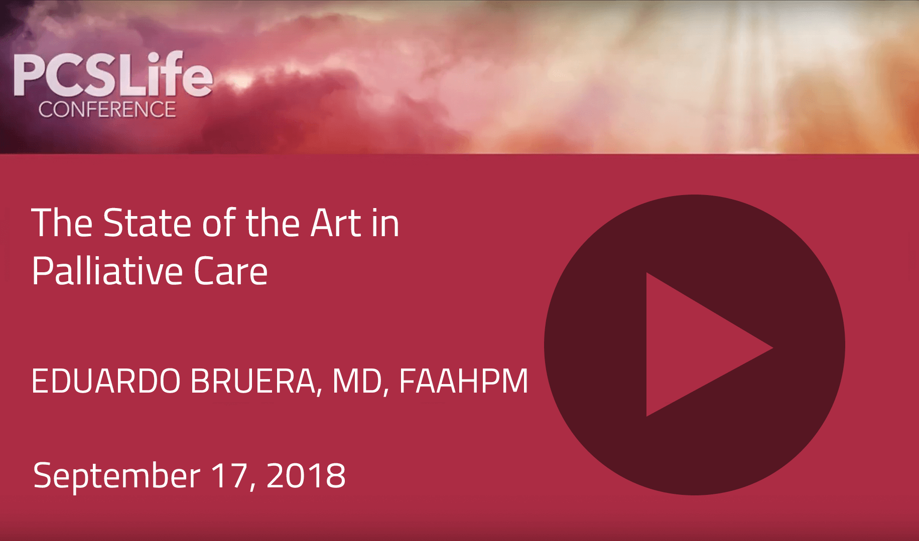 The State of the Art in Palliative Care by Eduardo Bruera
