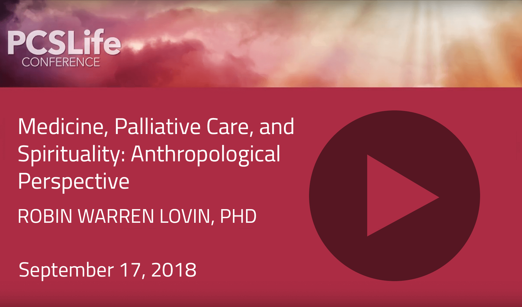 Medicine, Palliative Care, and Spirituality: Anthropological Perspective by Robin Warren Lovin