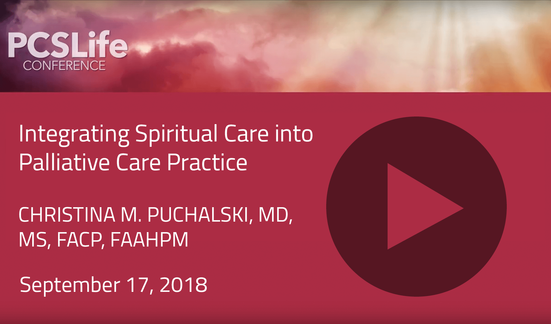 Integrating Spiritual Care into Palliative Care Practice by Christina M. Puchalski