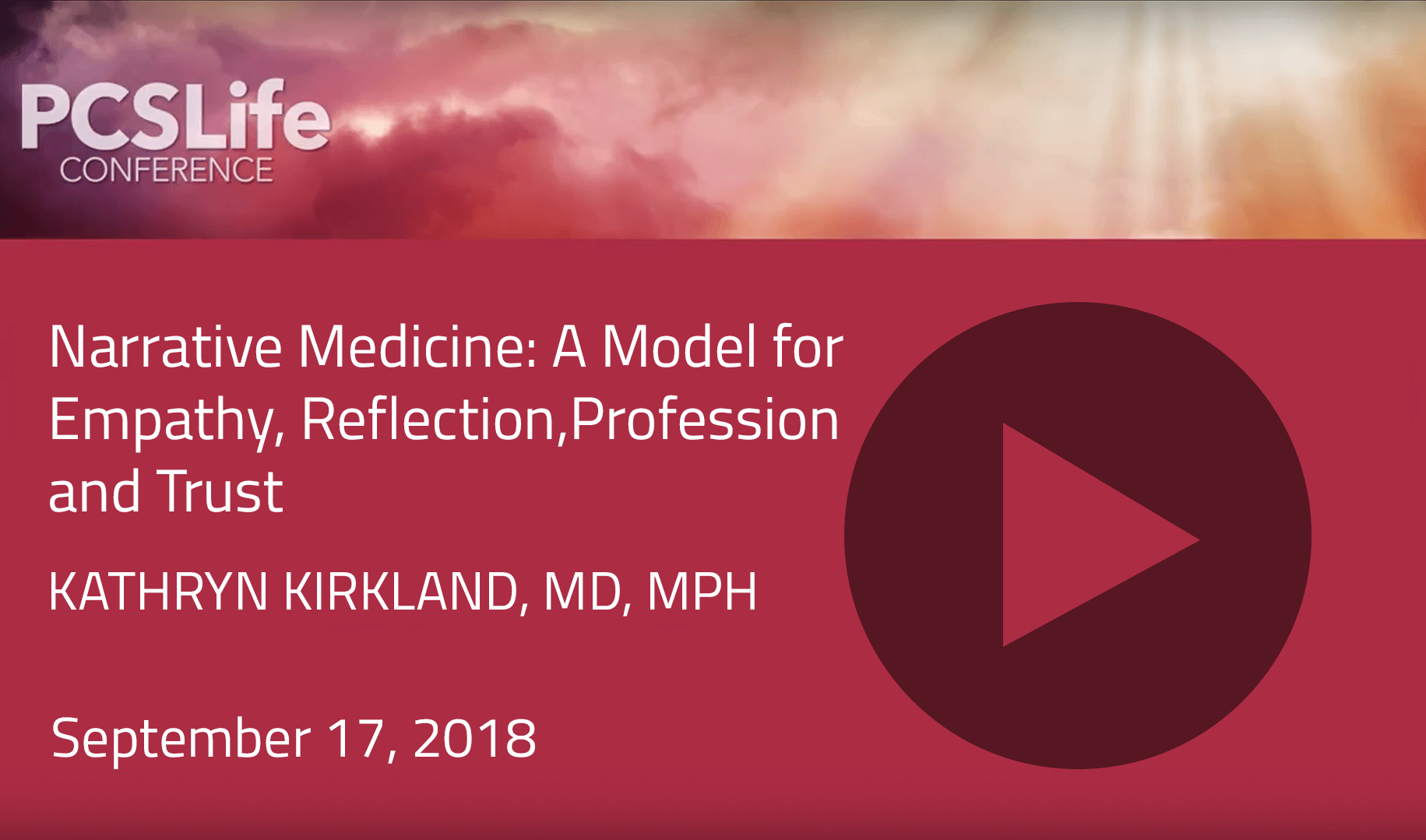 Narrative Medicine: A Model for Empathy, Reflection, Profession and Trust by Kathryn Kirkland